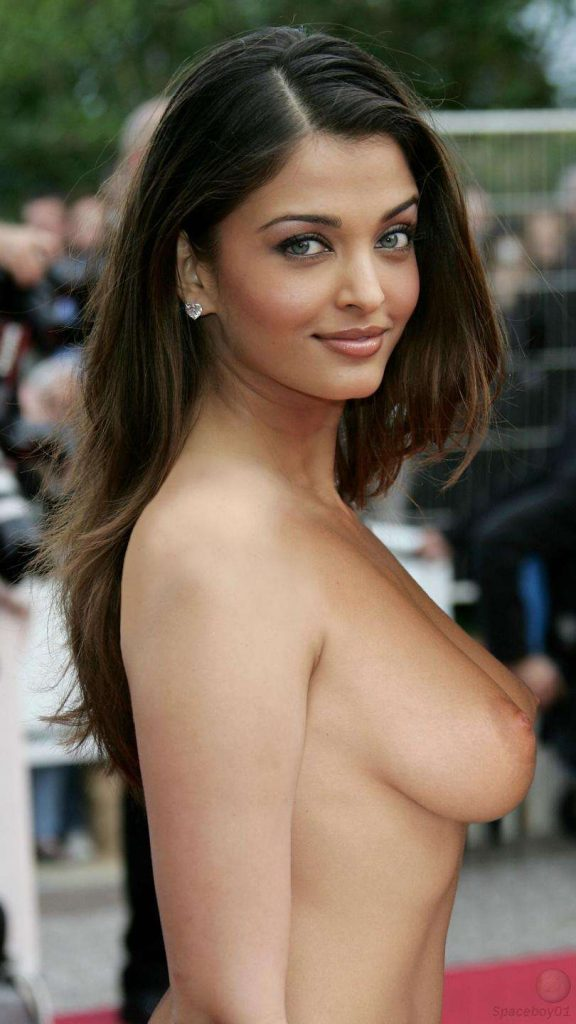 Aishwarya Rai posing her boobs and pussy nude for her fan